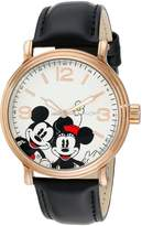 Disney Men's W001855 Mickey Mouse Analog Display Analog Quartz Black Watch