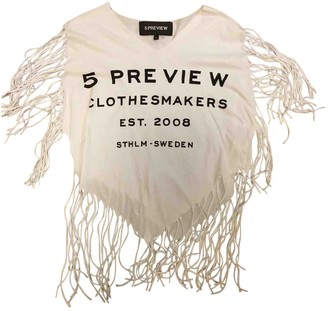 5Preview 5 Preview White Cotton Top for Women