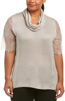 Marina Rinaldi Silk & Cashmere-Blend Top