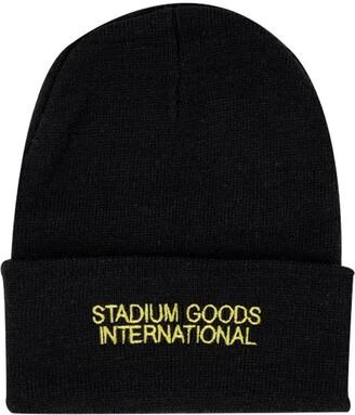 Stadium Goods logo embroidered beanie hat