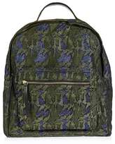Leather bino camo backpack