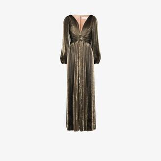 Oscar de la Renta Metallic Silk Evening Gown