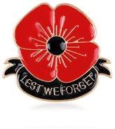 WHATWEARS 1x Ladies Poppy Brooch Diamante Lapel British Remembrance Enamel Red