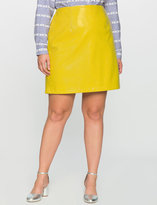 ELOQUII Plus Size Embossed Faux Leather Skirt