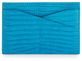 Tom Ford Lizard Leather Card Case, Turquoise