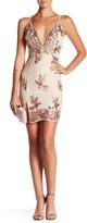 Minuet Pink Gold Sequin Dress