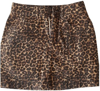 Urban Outfitters Brown Cotton Skirt for Women