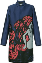 Oamc Pandaemonium coat - men - Silk/Cotton/Calf Leather/Cupro - XS