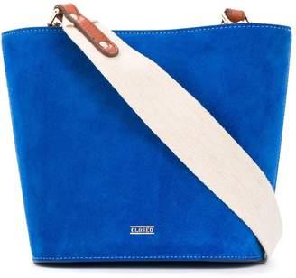 Closed Suede-Effect Shoulder Bag