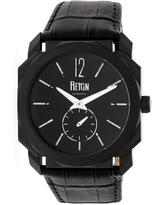 Reign Maximus REIRN4106 Men's Black Stainless Steel and Leather Automatic Watch