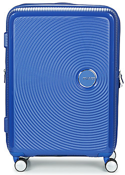 American Tourister SOUNDBOX 67CM 4R women's Hard Suitcase in Blue