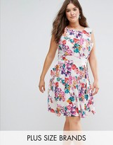 Koko Floral Print Skater Dress