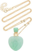 Jacquie Aiche Medium Heart Chrysoprase Potion Bottle Necklace