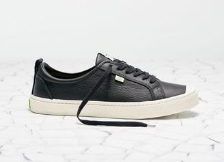 Cariuma OCA Low Black Premium Leather Sneaker Men