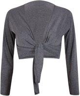 Hanger Hanger Women's Long Sleeve Bolero Crop Cardigan Tie Shrug 4-6