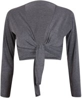 Purple Hanger PurpleHanger Women's Long Sleeve Bolero Crop Cardigan Tie Shrug 4-6
