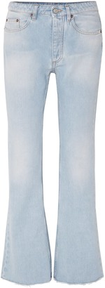 MM6 MAISON MARGIELA Frayed Mid-rise Flared Jeans