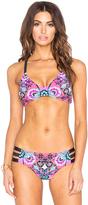 Nanette Lepore Bali Batik Heartbreaker Bikini Top