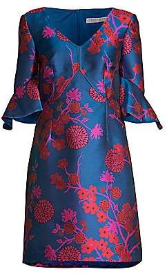 Trina Turk Women's Tour The Vineyard Jacquard A-Line Dress