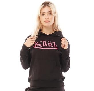 Von Dutch Womens V-Allea Hoodie Black/Pink