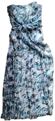 Philosophy di Alberta Ferretti Blue Silk Dresses