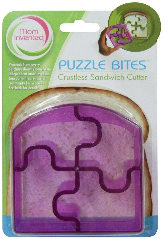 Mom Invented Puzzle Bites Crustless Sandwich Cutter