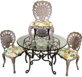 One Kings Lane Vintage Grotto Style Patio Dining Set,Set of 5