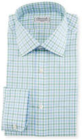 Charvet Tattersall Dress Shirt, Green