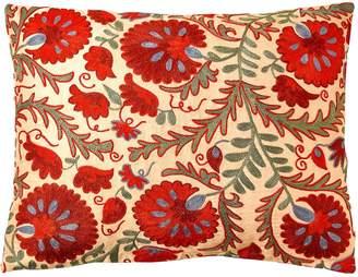 Colosseum Heritage Geneve Carnation Suzani Ikat Double Sided Heritage Design Cushion