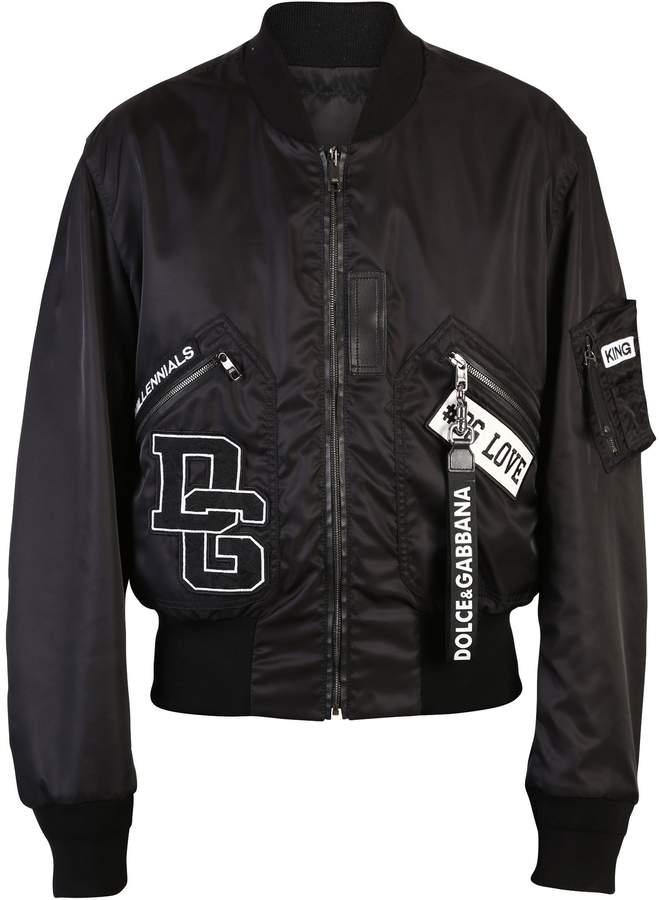 Dolce & Gabbana Black Patched Jacket