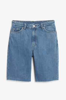 Monki High-waist denim shorts