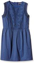 Tommy Hilfiger Girl's Dg Fixed Waist Dress Slvls Dress - Blue -