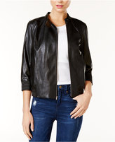 GUESS Gabe Faux-Leather Bomber Jacket