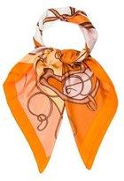 Hermes Coup de Fouet Silk Shawl