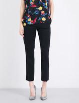 Diane von Furstenberg Tapered cropped stretch-wool trousers