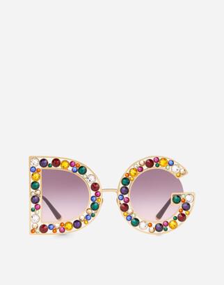 Dolce & Gabbana Crystal Sunglasses
