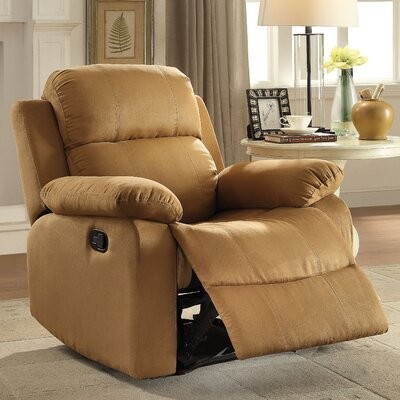 """Thumbnail for your product : Red Barrel Studio Amelio 36"""" Wide Manual Standard Recliner Fabric: Brown"""