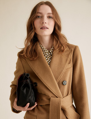 Marks and Spencer Belted Double Breasted Longline Coat