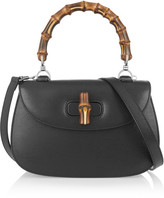 Gucci Bamboo Classic Textured-leather Shoulder Bag - Black