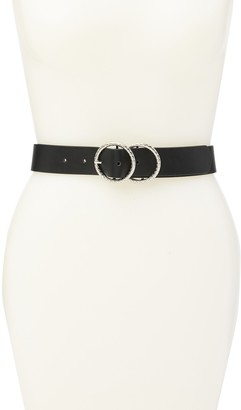 Linea Pelle Textured Double O-Ring Belt