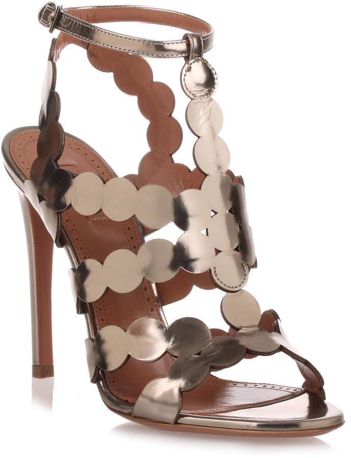 Alaia Dark silver circle sandal