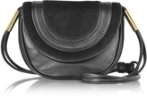Diane von Furstenberg Bullseye Black Leather and Suede Mini Crossbody Bag