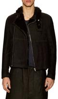 Rick Owens Shearling Biker Jacket