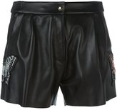 Philipp Plein butterfly patch leather shorts