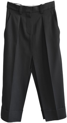 Acne Studios Black Wool Trousers