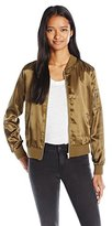 Almost Famous Women's Bomber Jacket with Zip Pocket