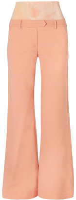 Ellery Nude Descendant Jersey-paneled Cady Bootcut Pants