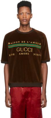 Gucci Brown Chenille Maison De lAmour T-Shirt
