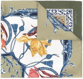 Salvatore Ferragamo Elizabeth print silk scarf