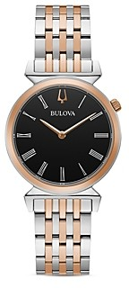 Bulova Regatta Slim Two Tone Link Bracelet Watch, 30mm